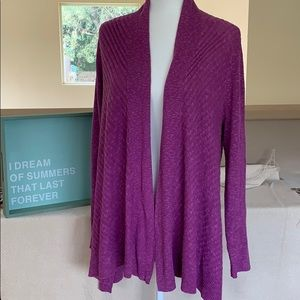 😍Eileen Fisher Open Front Cardigan, regal purple